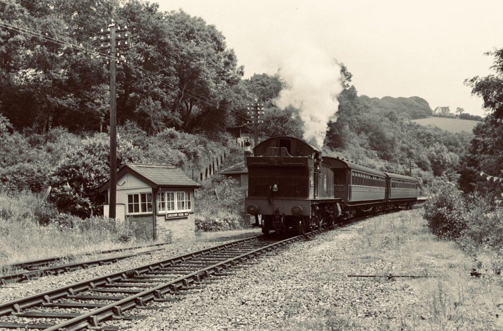 Longdown railway station and signal box